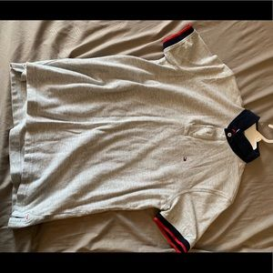 Tommy Hilfiger 1/4 button polo shirt Size small